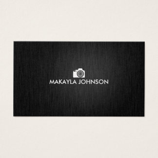 Fotógrafo preto e de prata elegante & moderno cartão de visitas