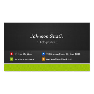 Fotógrafo - profissional e prêmio cartão de visita