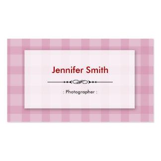 Fotógrafo - quadrados cor-de-rosa bonito modelos cartões de visitas