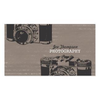 Fotógrafo retro do profissional da câmera do vinta modelo cartões de visitas