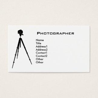 Fotógrafo simples cartão de visitas