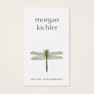 Fotógrafo simples do profissional da natureza da cartão de visitas