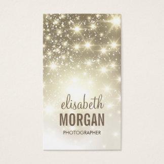Fotógrafo - Sparkles brilhantes do ouro Cartão De Visitas