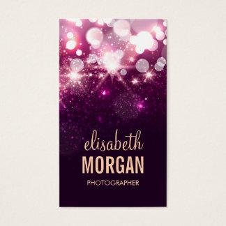 Fotógrafo - Sparkles cor-de-rosa do brilho Cartão De Visitas