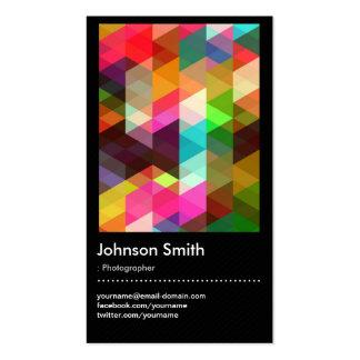 Fotógrafo - teste padrão de mosaico colorido cartão de visita