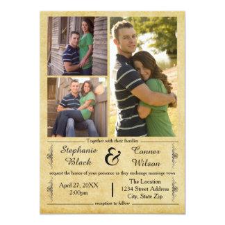 Fotos antigas do papel 3 - convite do casamento