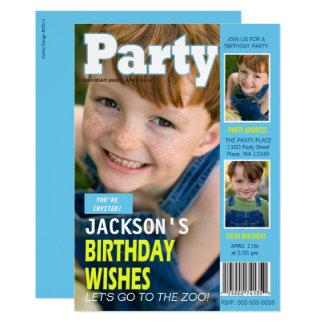Fotos da capa de revista 3 do convite de