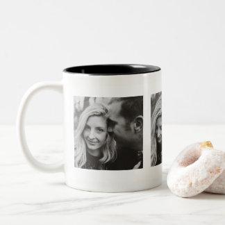 Fotos do costume três personalizadas caneca de café em dois tons