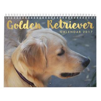 Fotos personalizadas do calendário 2017 do golden