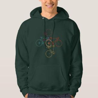 four bicycles . bikes, cycling moletom