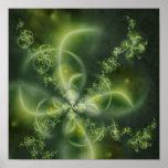 Four-Leaf Clover Fractal Poster