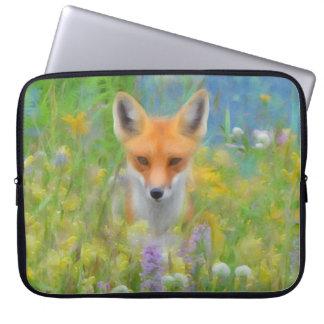 """Fox 15"""" do primavera a bolsa de laptop do neopreno sleeve para notebook"""