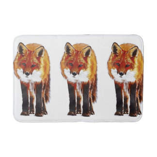 fox a esteira de banho, tapete foxy, decoração do