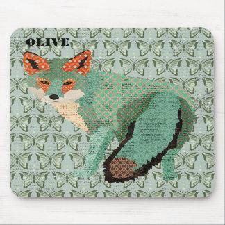 Fox ambarino Mousepad personalizado borboleta de S