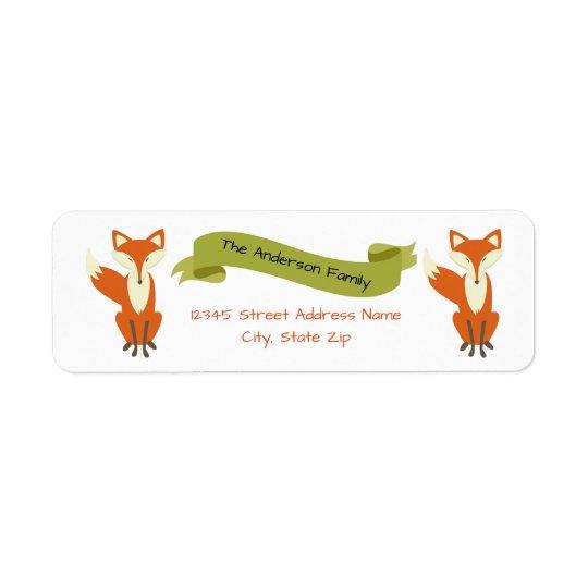 Fox da floresta - Etiquetas de endereço Etiqueta Endereço De Retorno