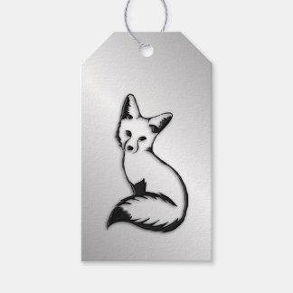 Fox de prata etiqueta para presente