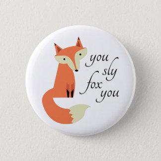 Fox manhoso bóton redondo 5.08cm
