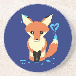 Fox que pinta a porta copos bonito do arenito do