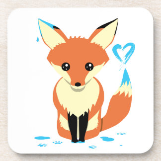 Fox que pinta a porta copos plástica dura bonito