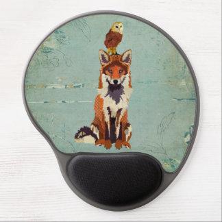Fox retro & coruja Mousepad Mouse Pads De Gel