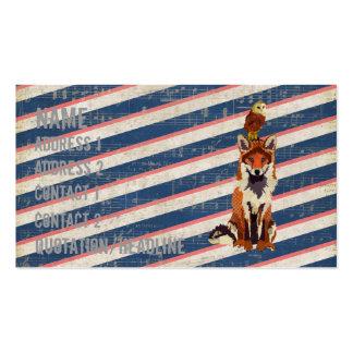 Fox retro do âmbar cartão de visita da coruja
