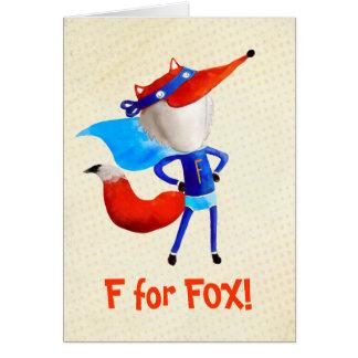 Fox super cartão comemorativo