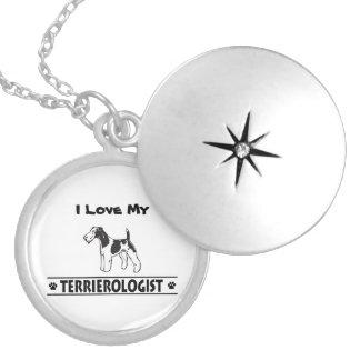 Fox Terrier Wirehaired cómico Colar Medalhão