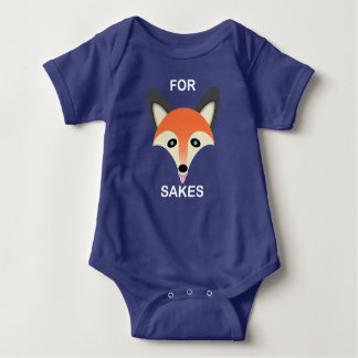 Fox vermelho - Bodysuit do jérsei do bebê T-shirt
