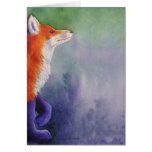 Fox vermelho cartão