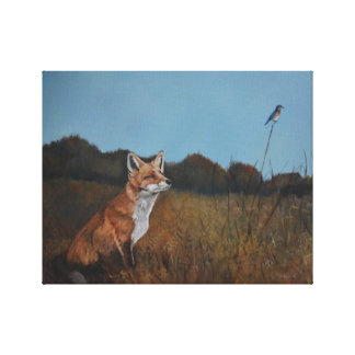Fox vermelho com impressão animal das canvas dos