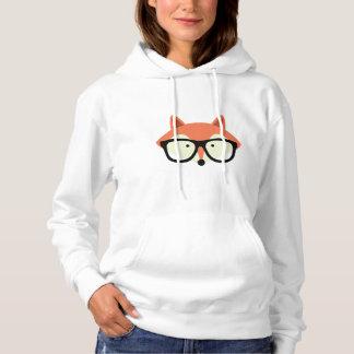 Fox vermelho do hipster bonito moletom
