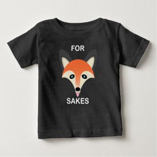 Fox vermelho - T-shirt fino do jérsei do bebê