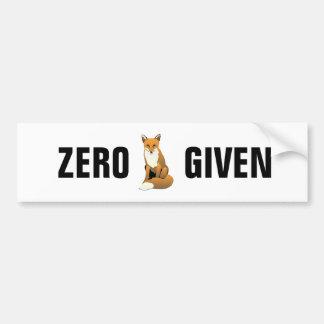 Fox zero dado adesivo para carro