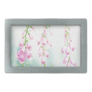 Foxgloves cor-de-rosa da aguarela