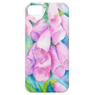 Foxgloves cor-de-rosa da aguarela capa para iPhone 5