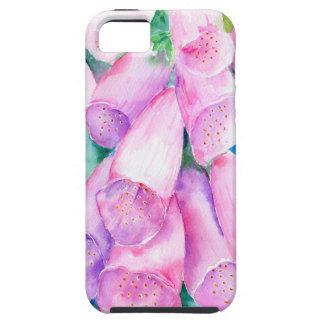 Foxgloves cor-de-rosa da aguarela capa tough para iPhone 5