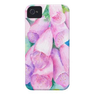Foxgloves cor-de-rosa da aguarela capinha iPhone 4