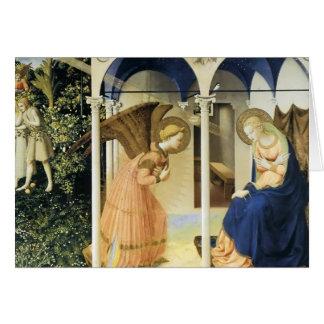 Fra Angelico o aviso Cartão Comemorativo