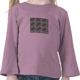 Fractal 30, camisa longa da luva das meninas camiseta