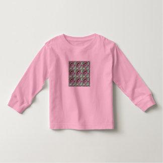 Fractal 30, camisa longa da luva das meninas tshirts