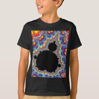 Fractal ajustado multicolorido brilhante de camiseta