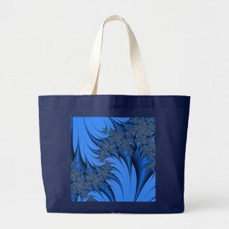 Fractal azul bolsa tote grande