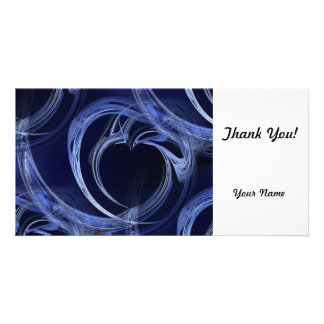 Fractal azul sem emenda cartão com foto