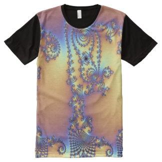 Fractal Camiseta Com Impressão Frontal Completa