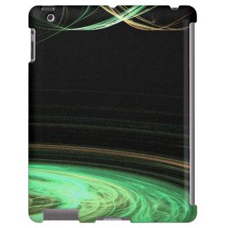 Fractal circular verde do espaço capa para iPad