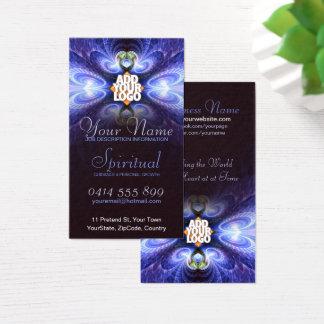 Fractal claro espiritual com cartão de visita do