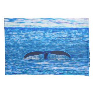 Fractal da cauda da baleia azul e cor-de-rosa