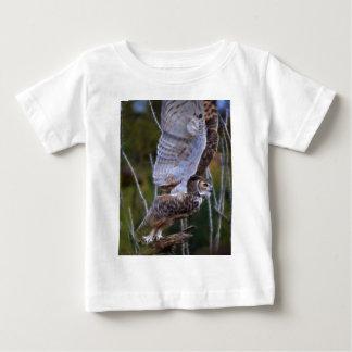 Fractal da coruja camiseta para bebê
