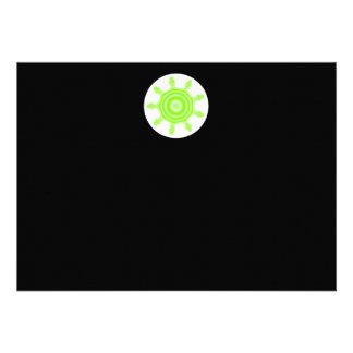 Fractal da explosão do limão Verde preto e branc Convite Personalizado