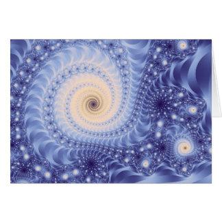 Fractal das belas artes do abstrato do espiritual cartão de nota